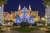 Christmas decorations in Monaco, Montecarlo,France — Stock Photo