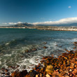 Stock Photo: Mountains and harbour at Gordons Bay near Cape Town