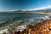 The mountains and harbour at Gordons Bay near Cape Town — Stock Photo