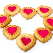 The heart is composed of a pastry — Stock Photo