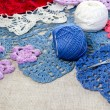Crocheted lace napkins — Stock Photo #39119473