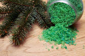 Coniferous extract bath — Stockfoto