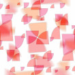 Modern fanciful abstract design  slightly blurred  on white background - Stock Photo