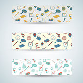 Business vector banners. — Stock Vector