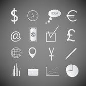 Doodle Business icons set — Stock Vector