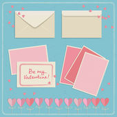 Set of doodle envelopes. Vector illustration — Vettoriale Stock