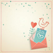 Valentine's day gift card. Vector illustration — Vector de stock