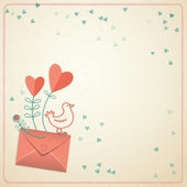 Valentine's day gift card. Vector illustration — Stockvektor