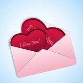 Valentine envelope — Stock Vector