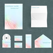 Corporate identity set. Vector illustration. — Stock Vector