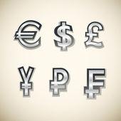 Money icons set. Vector illustration — Stock Vector