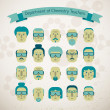 Royalty-Free Stock Vector Image: Set of various doodle faces