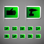 Indastrial icon set vector — Vetor de Stock