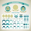 Royalty-Free Stock Imagen vectorial: Doodle faces pazzle