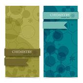 Molecule vertical banners. — Stock Vector