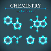 Molecule background. — Stock Vector