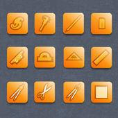 Industrial vector icon set — Stock Vector