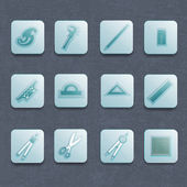 Conjunto de iconos vectoriales industrial — Vector de stock