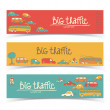 Transportation Doodle banners — Stock Vector #19914687