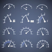 Speedometer interface icons. — Stock Vector