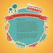 Transportation Doodle Background — Stock Vector