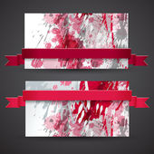 Abstract artistic Banners — Stock Vector