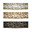 Horseshoes banners set. - Stock vektor