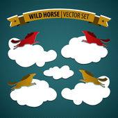 Wild horse — Stock Vector