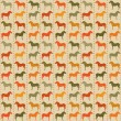 Horses seamless pattern. — Stock Vector #21333531