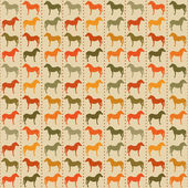Horses seamless pattern. — Stock Vector