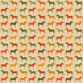 Paarden naadloze patroon — Stockvector