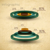 Vintage infographics set — Stock Vector
