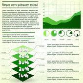 Ročník infografiky sada — Stock vektor