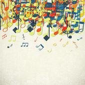 Plano de fundo colorido da música. — Vetor de Stock