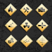 Industrial icons set — Stock Vector