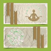 Natur abstrakt eco banners set — Stockvektor