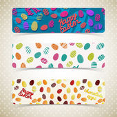 Easter eggs banners set — Stock Vector