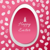 Greeting card with Easter egg symbol — Stok Vektör