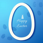 Greeting card with Easter egg symbol — Stock Vector