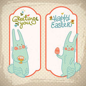 Happy easter banners — Stock Vector