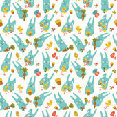 Happy easter seamless pattern — Stock Vector