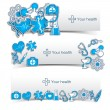 Medical banners set with icons — Stock Vector #23341228
