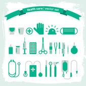 медицинские иконки набор — Cтоковый вектор