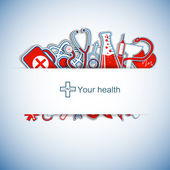 Tıbbi geçmişi — Stok Vektör