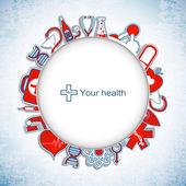 Medicinsk banner med ikoner — Stockvektor