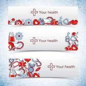 медицинские баннеры набор иконок — Cтоковый вектор