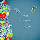 Medicinsk bakgrund — Stockvektor
