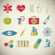 Medical icons set — Vector de stock #23382416