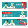 Stock Vector: Medical banners set