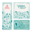 Medical banners set — Vector de stock #23460950